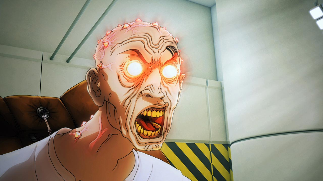 Still from PostHuman, an animated short