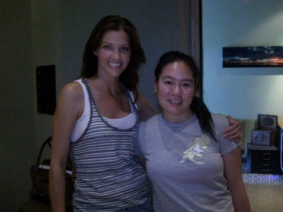 Tricia Helfer and Jen Luk at Shoreline Studios in Santa Monica