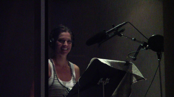 Tricia Helfer - VO recording for PostHuman - 6 May 2011